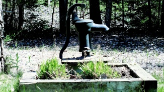 The well in the front yard
