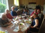 Always visitors for dinner, always lots of food