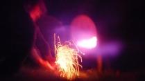 Lighting the fireworks