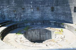 This is just one of the many gun emplacements~