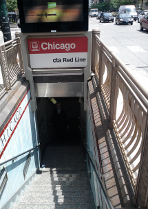 This station's name could be confusing. It's named after Chicago Avenue, not after the city.