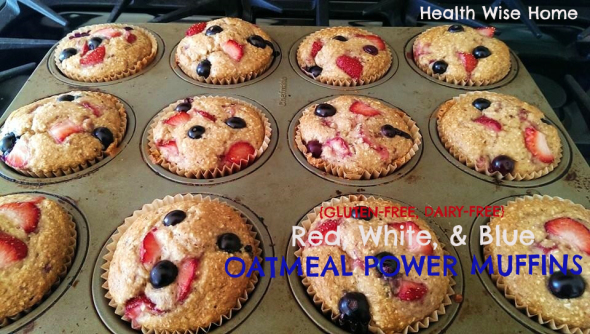 rwb oatmeal power muffins