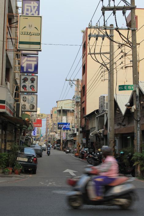 Street view in Chiayi, Taiwan.