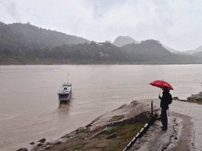 Rain on the Mekong, at Luang Prabang