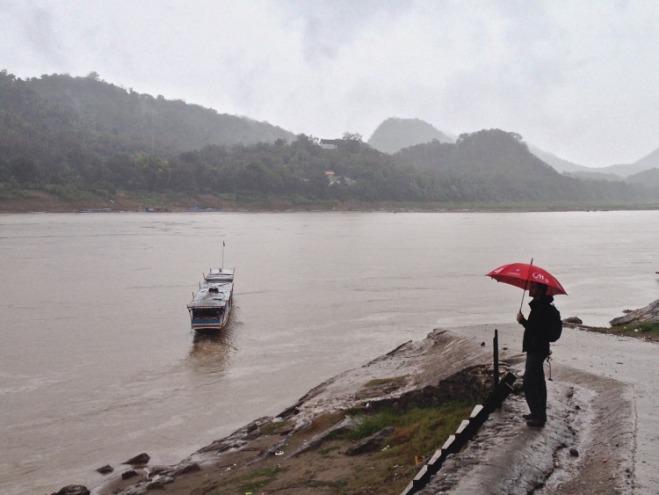 Rain on the Mekong, at Luang Prabang