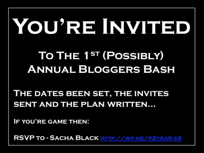 First (Possibly) Annual Bloggers Bash