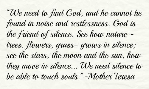 Silence is a Writer'sFriend.